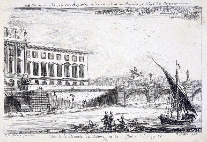 La colonnade du Louvre et la statue d'Henry IV_0