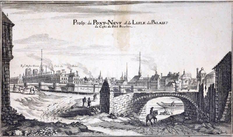 MERIAN Matthäus le Vieux (graveur) : Le Pont-Neuf et la pointe de l'île de la Cité