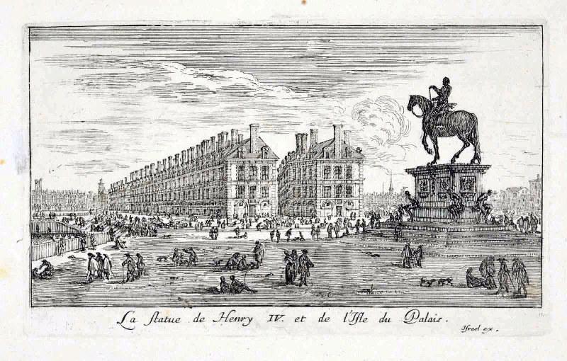 La statue de Henry IV et de l'isle du Palais (titre inscrit)_0