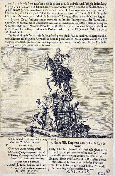 La statue équestre d'Henri IV sur le Pont Neuf