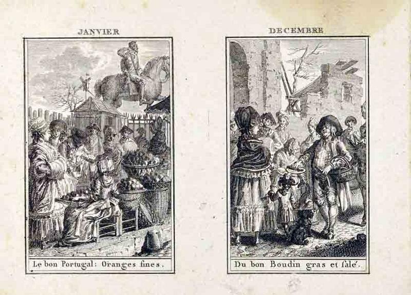 L'almanach des marchés ; Les saisons ; Janvier, décembre, février, novembre (titre inscrit)