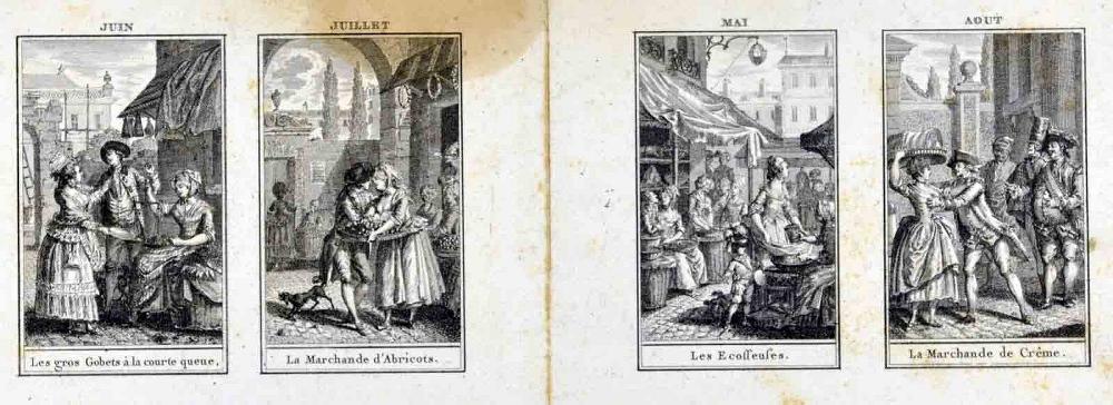 L'almanach des marchés ; Les saisons ; Juin, juillet, mai, août (titre inscrit)_0