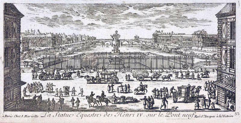 MARIETTE Jean (éditeur) : La statue équestre d'Henri IV sur le Pont Neuf
