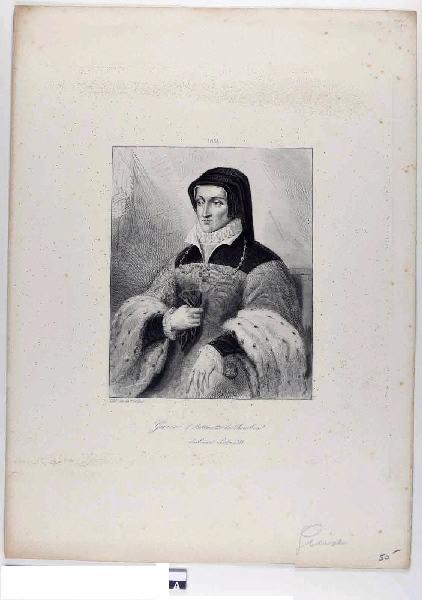 anonyme (graveur) : Antoinette de Bourbon, duchesse de Guise (titre inscrit)