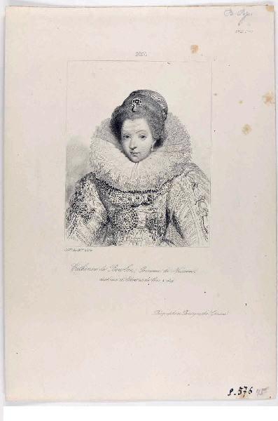 GAVARD Charles (diagraphe, pantographe) : Catherine de Bourbon