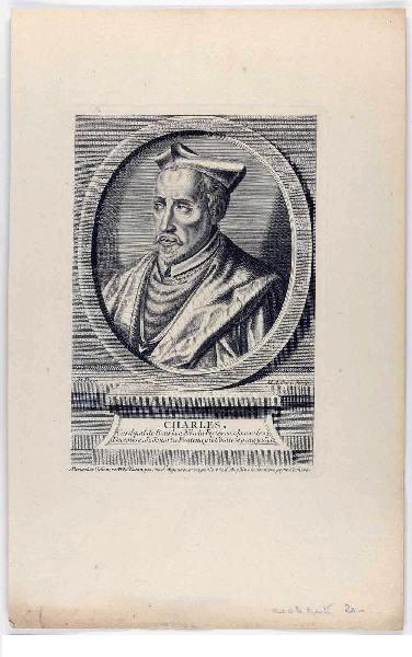 AUBERT Michel (graveur), ODIEUVRE Michel (éditeur) : Charles, cardinal de Bourbon, archevêque de Rouen