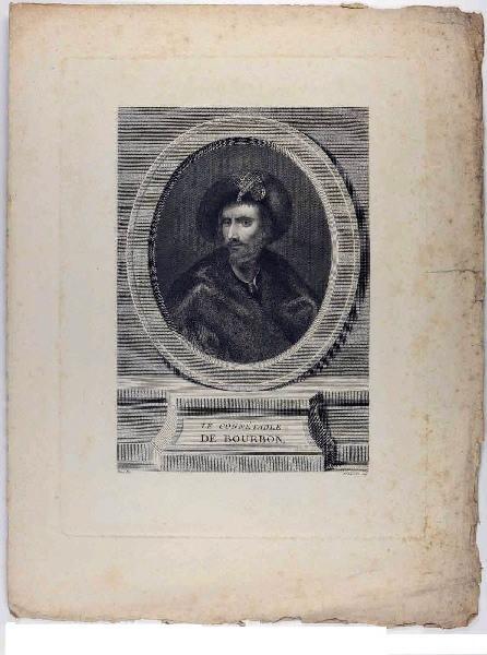 BEISSON Etienne (graveur), LE TITIEN (dit), VECELLIO Tiziano (d'après) : Le connétable de Bourbon (titre inscrit)