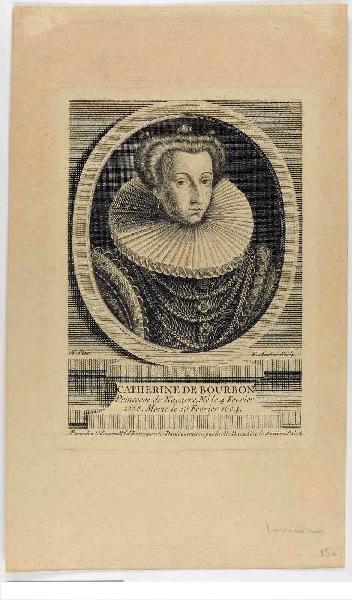 AVELINE François Antoine (graveur), ODIEUVRE Michel (éditeur) : Catherine de Bourbon