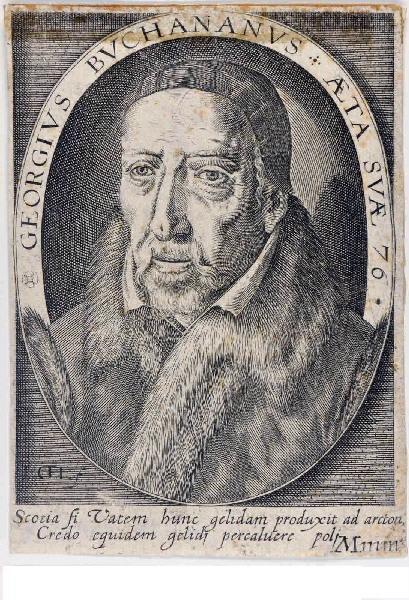 anonyme (graveur) : Georges Buchanan, poète et dramaturge
