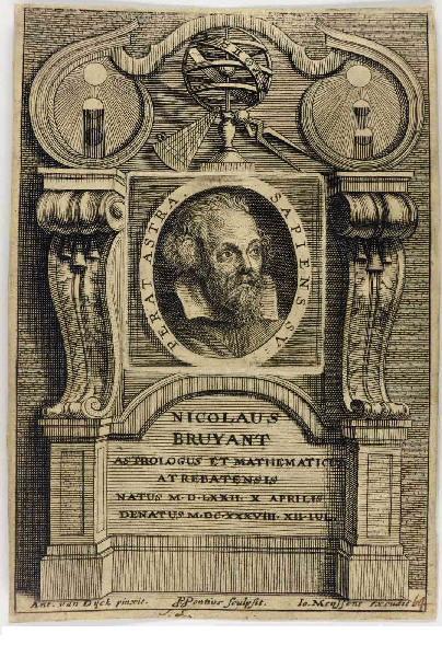 PONTIUS Paul (graveur), VAN DYCK Anton (d'après, peintre) : Nicolas Bruyant, astrologue et mathématicien