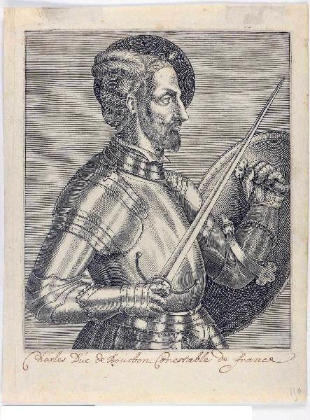 THEVET André (graveur, auteur, ?) : Charles de Bourbon, conestable de France