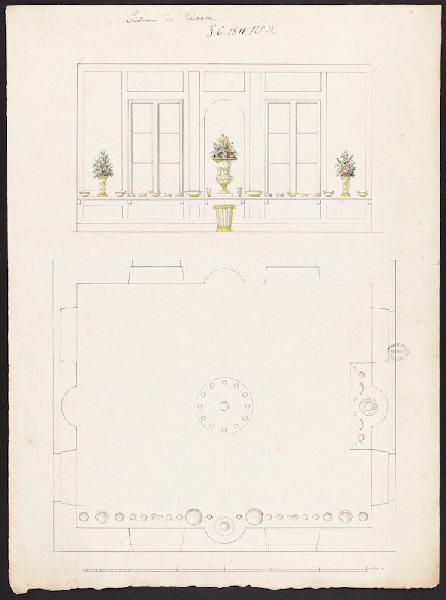 Plan de la laiterie de Trianon