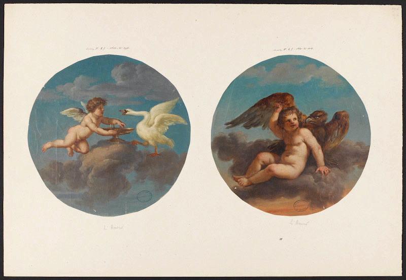 LAGRENEE Jean-Jacques, LAGRENEE le Jeune (dit), manufacture de Sèvres (manufacture) : Amours, Elément décoratif