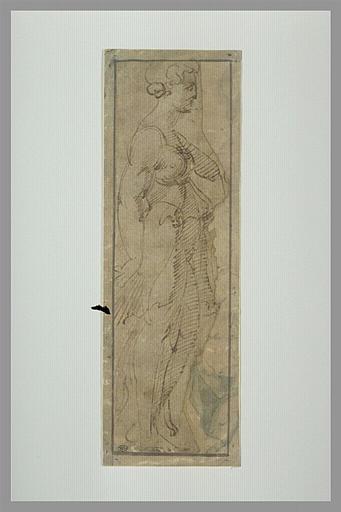 BANDINELLI Baccio : Femme debout, de profil vers la droite
