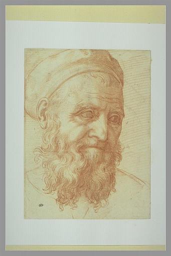 Tête d'homme barbu, le regard fixé à droite : autoportrait?