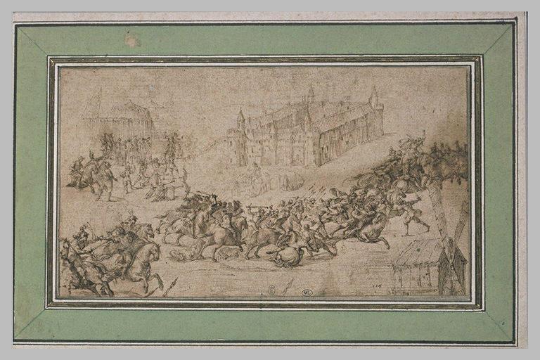 Bataille près du château d'Ingelmunster (Flandres occidentales) en 1580