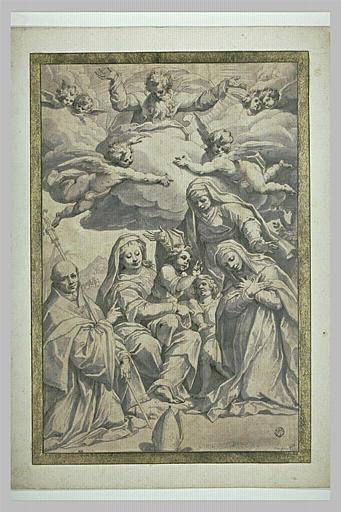La Vierge à l'Enfant avec le petit saint Jean et trois saints
