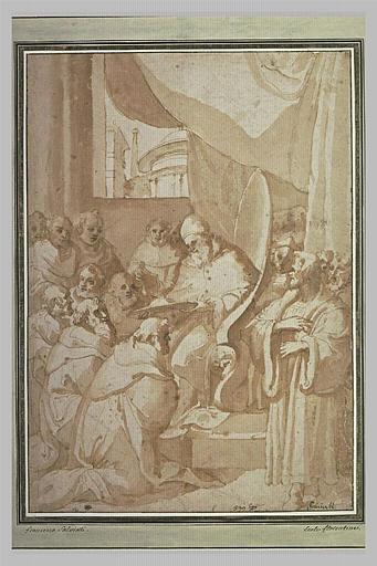 Jules II intronisant un cardinal
