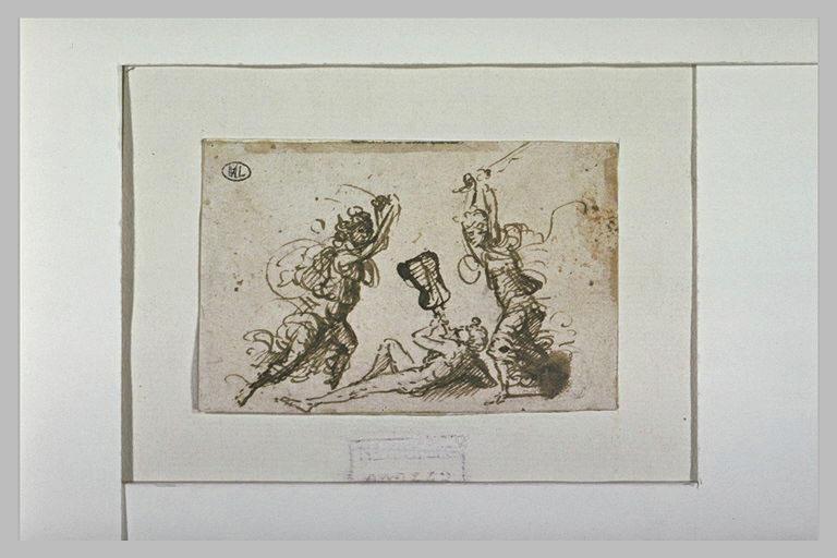 Mort d'Orphée battu par les femmes de Thrace