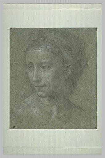 Tête de femme, vue de trois quarts