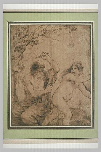 BARBIERI Giovanni Francesco : Saint Jérôme tourmenté par le diable déguisé en femme nue
