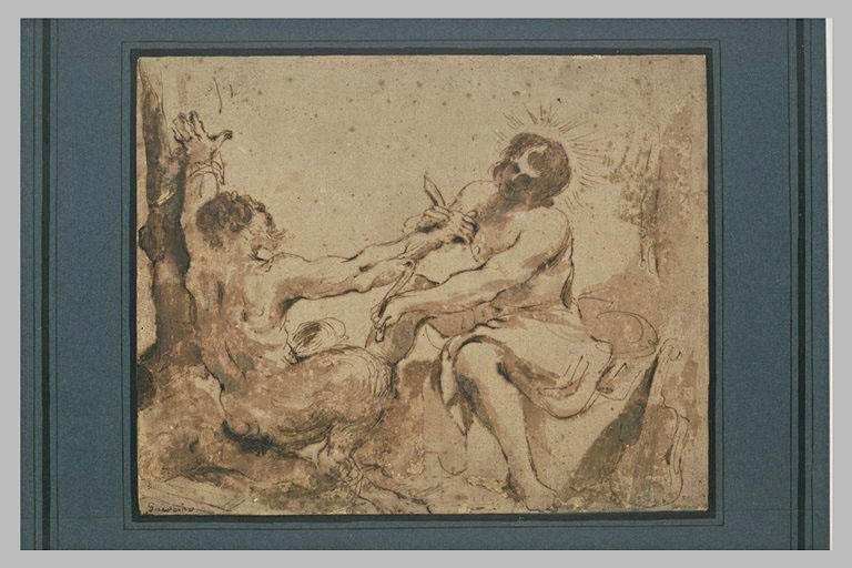 BARBIERI Giovanni Francesco : Apollon écorchant Marsyas