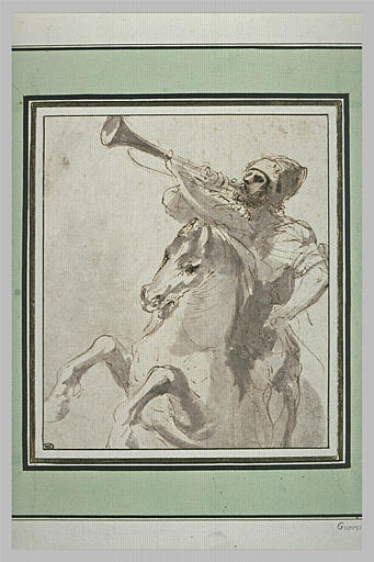 BARBIERI Giovanni Francesco : Cavalier sonnant de la trompette
