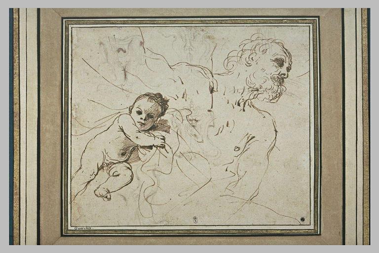Viellard et enfant : Tithonos et un putto_0