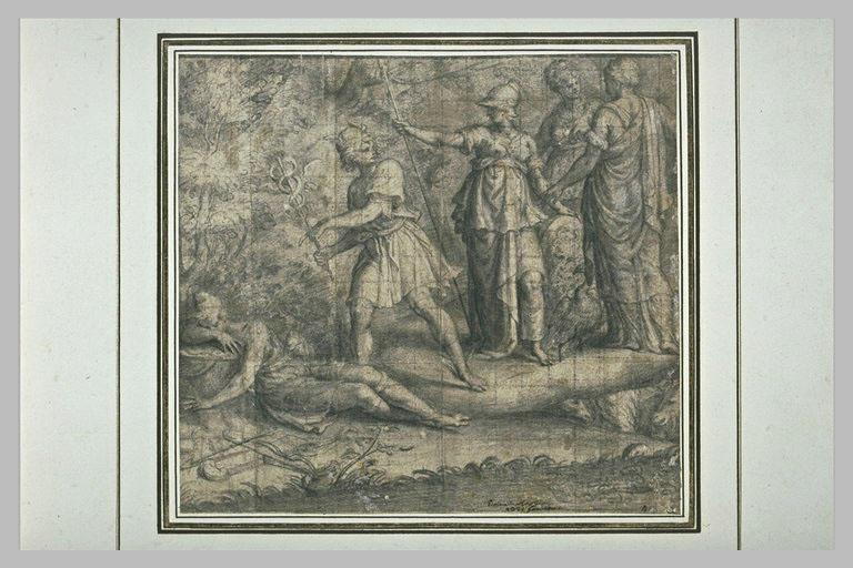 Mercure se disposant à réveiller Pâris, sur ordre des déesses