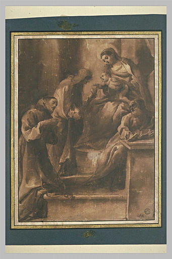 Sainte Marguerite, saint François d'Assise, saint Joseph adorant l'Enfant