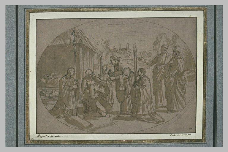 Saint Charles Borromée administrant le sacrement aux pestiférés