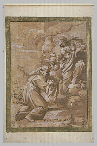 La Vierge confiant l'Enfant Jésus à saint François d'Assise