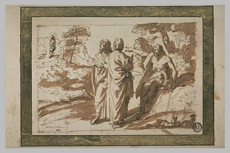Prédication de saint Jean-Baptiste, montrant le Messie