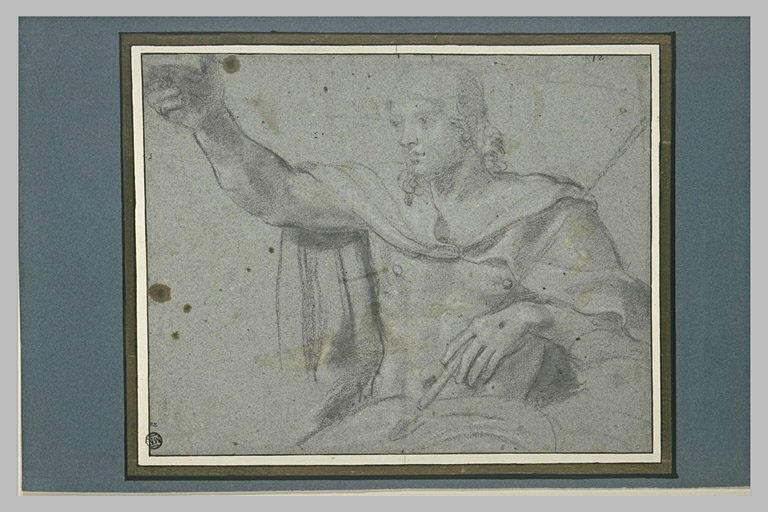 Demi-figure de Christ couronnant