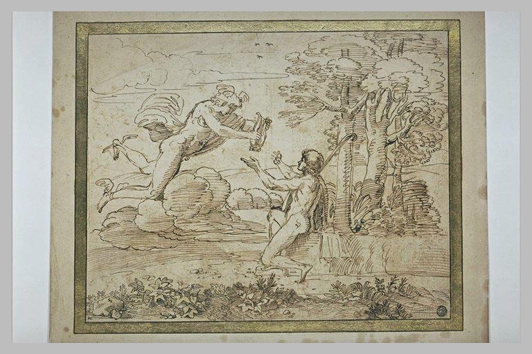 Mercure remettant une lyre à Apollon
