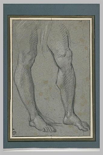Etude de deux jambes d'homme