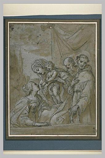 La Sainte Famille avec sainte Catherine et san Bernardino