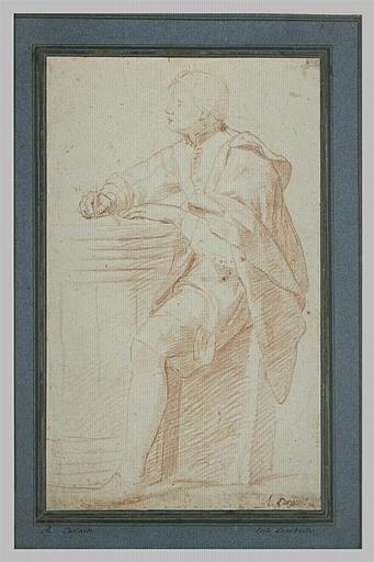 Figure de jeune homme assis, écrivant