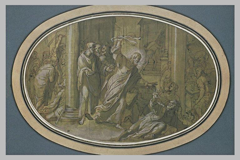 Le Christ chassant les marchands du Temple