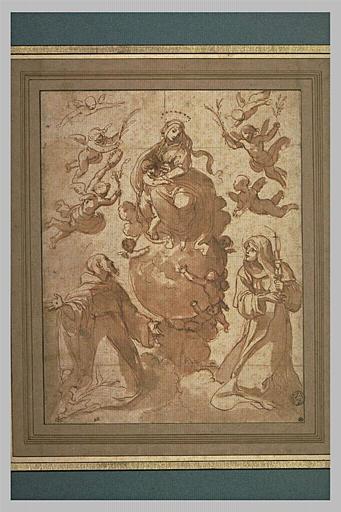 La Vierge et l'Enfant adorés par saint François et sainte Claire