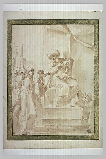 Etude pour le Christ montré au peuple par Pilate