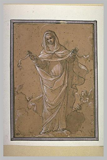 La Vierge debout tenant une ceinture