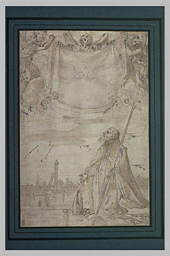 Alfonso Paleotti adorant le saint Suaire