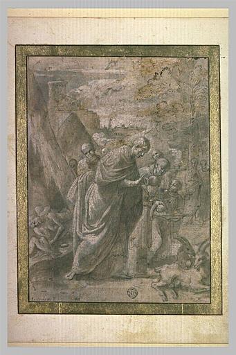 Saint Charles Borromée baptisant un nouveau-né