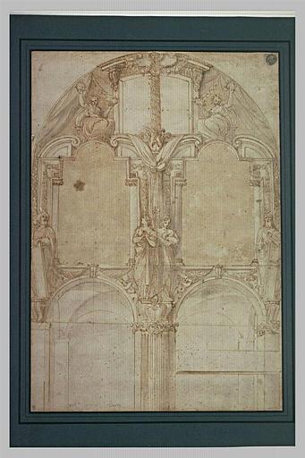 Etude pour le mur de la tribune du Duomo de Piacenza