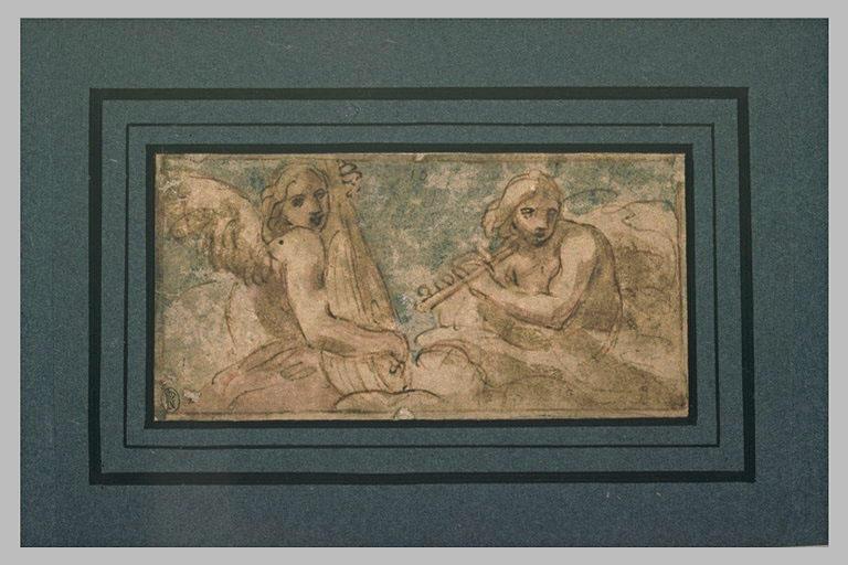 Deux anges musiciens