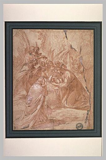 Saint Charles Borromée adorant l'Enfant Jésus