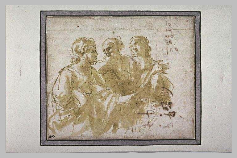 Trois figures en conversation