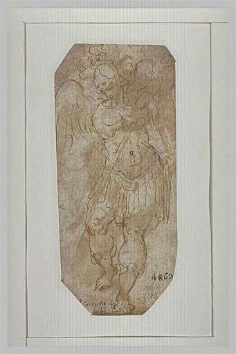L'archange saint Michel, de bout, de face