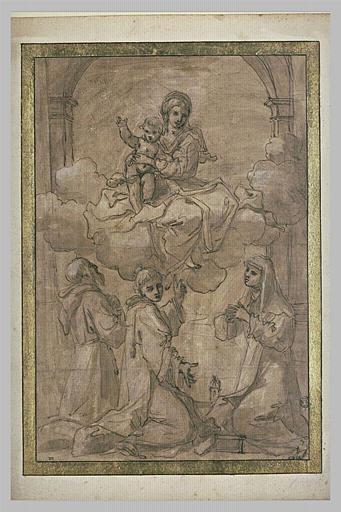 Vierge à l'Enfant adorée par saint François, saint Etienne et sainte Claire